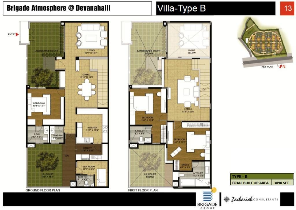 4 BHK Villa Type B Brigade Atmosphere Property First
