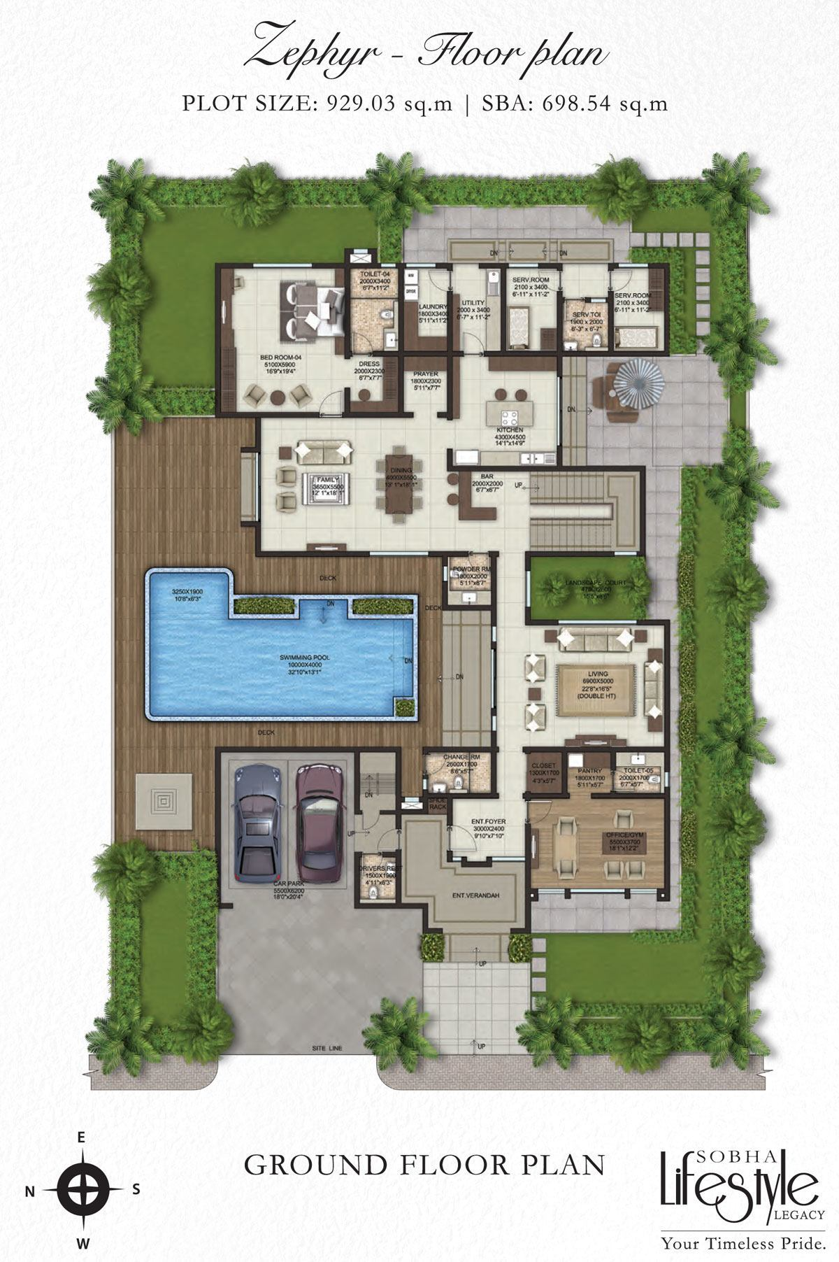 Sobha Lifestyle Villa Floor Plan Property First
