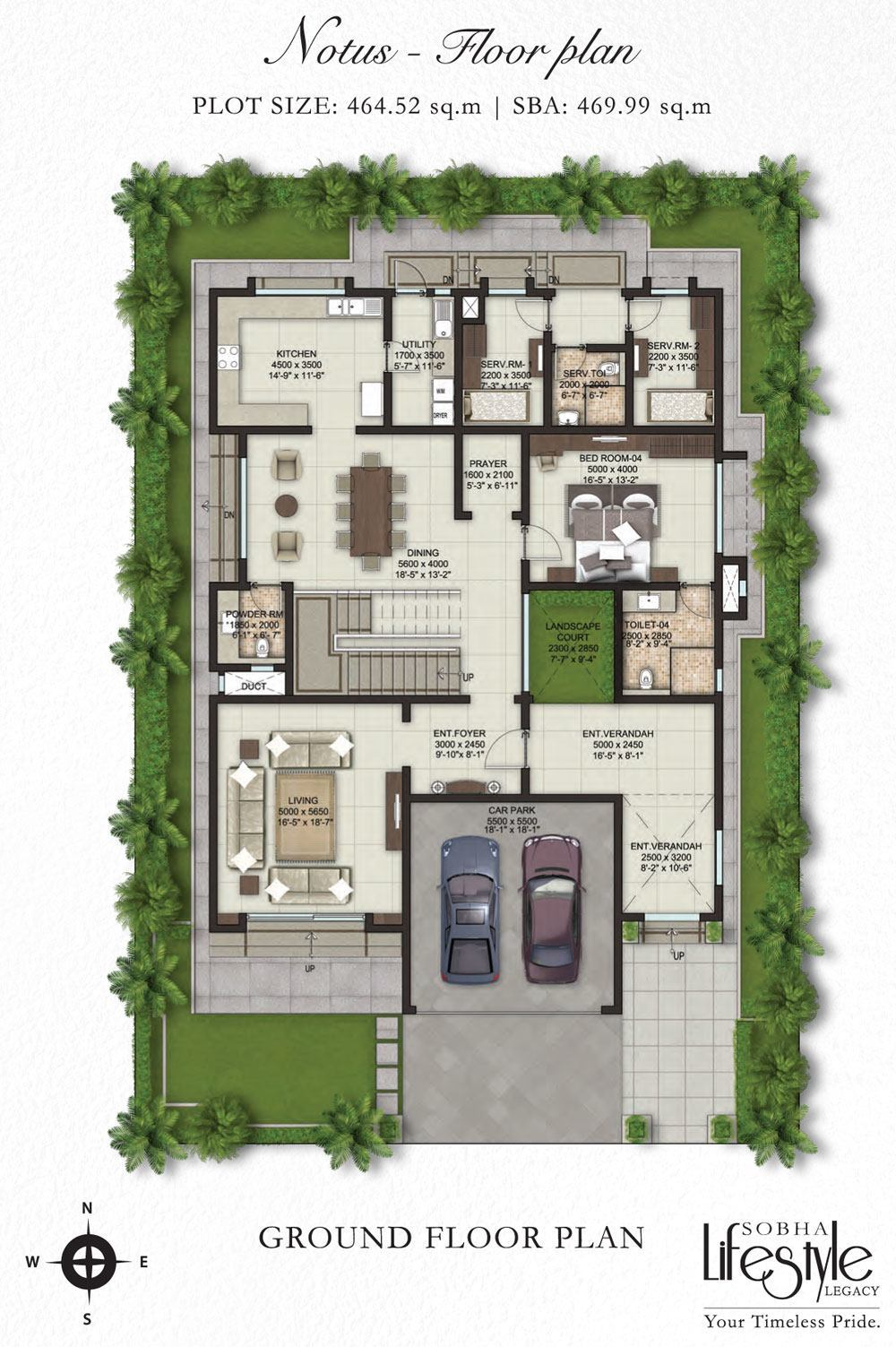 property first sobha lifestyle villa ground floor plan